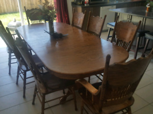Solid Dining Room Table seats 8