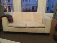 2 seater white soft sofa at a great price!!