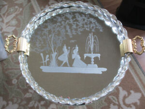 """""""Rare Find"""" Hollywood Style Murano Vanity Tray"""