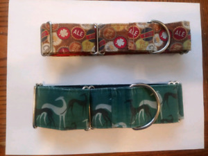 For sale: Greyhound martingale collars