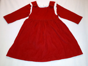 "Red Corduroy 2T Jumper Dress ""Princess Linens"" Brand EUC"