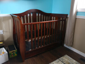 Crib and change table / dresser for sale.