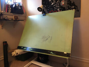 3x4 foot drafting table with parallel ruler