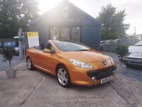 Peugeot 307 2.0 16V S COUPE CABRIOLET 138BHP (orange) 2006