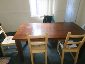 Dining desk with 4 chairs