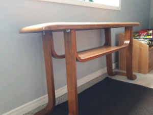 Coffee table and sofa hall table.  Solid Oak