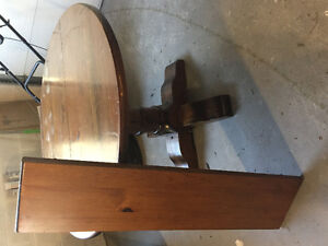 Solid Wood Antique Dining Table and Chairs