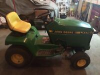 John Deere LX 176 lawn tractor with snowblower attachment