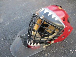 Goalie mask and chest protector
