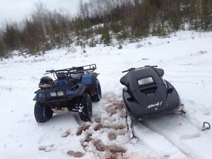 Suzuki 300 4x4 & Skidoo Mach1 670 both run great