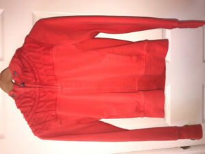 Coral Lululemon scuba Hoodie sweater size 6 with knit material