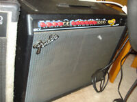 Guitar Amp , Fender 100A , Red Knob ,  and Fender Foot Switch