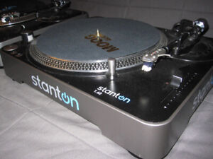 2 x Stanton T62B Direct Drive DJ Turntables -- Like New--