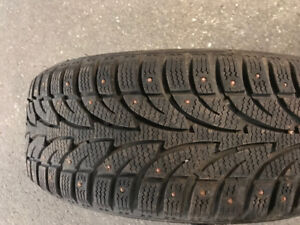 205/55R16 - 4 STUDDED WINTER TIRES & RIMS