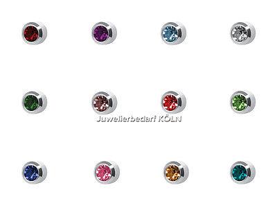 """Studex Plus Erstohrstecker Sort., Nickelfrei, """"12 Farben"""" 3,95mm weiß (12 Paar)"""