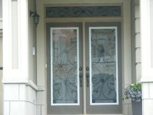 Wrought Iron and Stained Glass Door Inserts