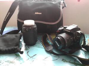 Nikon D3200 18-55mm+nikkor 55-200mm + sac