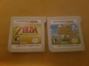 3ds games ocarina of time and animal crossing new leaf
