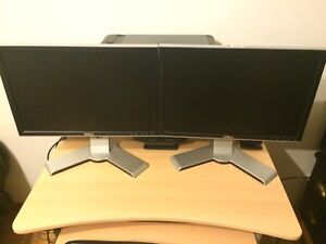 2 Dell 18 inches LCD monitor for sale