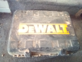 Empty DeWalt case