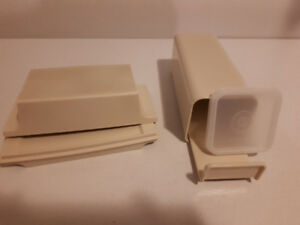 Vintage Tupperware Butter Dish and Cheese/ Cracker Holder.
