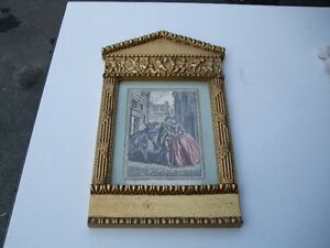 GOLD PLATED  FRAME AND PICTURES