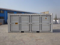shipping Containers 20' Open Side with 4 Doors