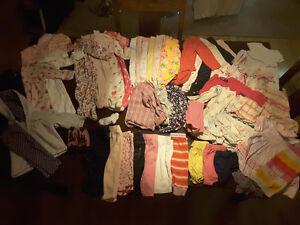 Lot de vêtements bébé fille 3 a 6 mois