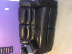 100% authentic leather recliner couch from  bricks...best offer!