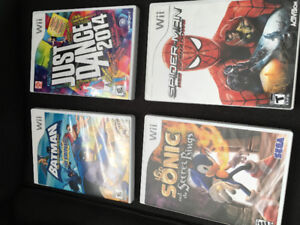 Wii and Xbox 360 Video games, clock and LEGO book for sale