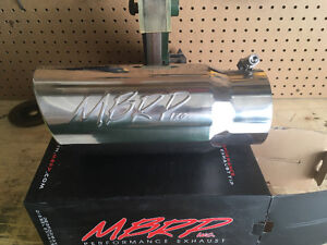 4 inch stainless steel Mbrp exhaust tip Strathcona County Edmonton Area image 1