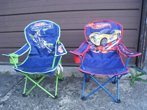 2 Kids' Folding Camping Armchairs in great condition