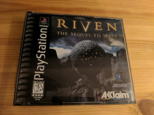 CIB Riven: The Sequel to Myst - PlayStation (PS1), 25$