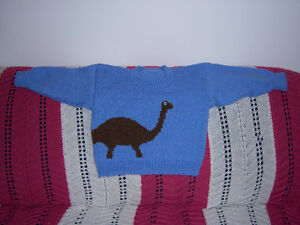 knitted dinasaur sweater