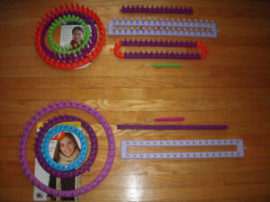 CIRCLE AND STRAIGHT LOOMS FOR KNITTING