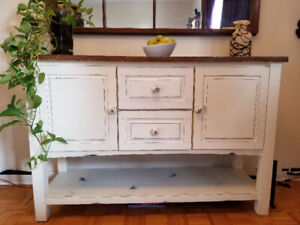 Refinished Buffet, Table & 4 chairs