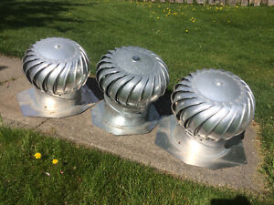 3x Whirly bird roof vents