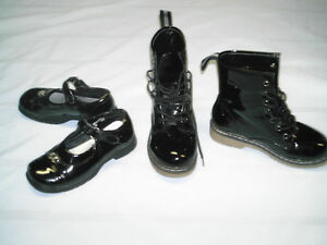 Girls shoes size 12 & 2, & Laced up Boots size 1 Kitchener / Waterloo Kitchener Area image 2