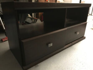 Dark Wood TV Table from DeFehr Furniture