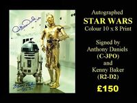 STAR WARS Autographed C-3PO and R2 - D2 Colour 10 x 8 PHOTO
