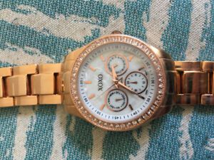 Never Worn Rose Gold XOXO Watch with Moter of Pearl Face!