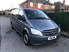 Mercedes Vito traveliner x long auto new shape 9 seater 2011 model
