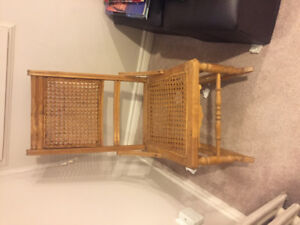 Antique Victorian cane-back rocking chair