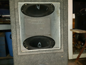 Two E10 Alpine car subwoofers