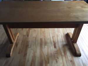 Sold Oak Hand Crafted Dinning Table