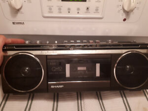 Sharp qt12 mini boombox ghetto blaster