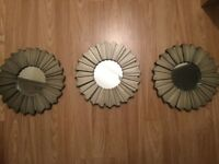 3 small mirrors for sale