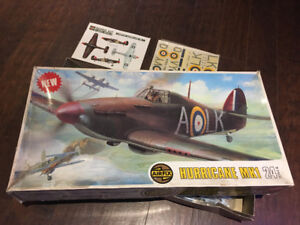 Vintage 1973 Airfix 1/24th Scale Hawker Hurricane