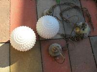 lampe et suport de plante