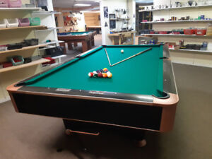 9ft. Black Crown pool tables
